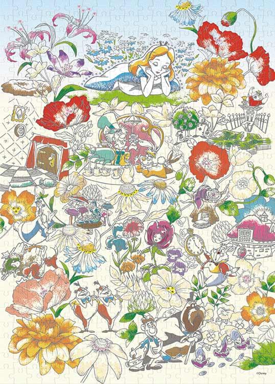 Epo 74 004 ディズニー Floral Daydream フローラルデイドリーム 不思議の国のアリス 500ピース Cp Pd エポック社 の商品詳細ページです 日本最大級のジグソーパズル通販専門店 ジグソークラブ