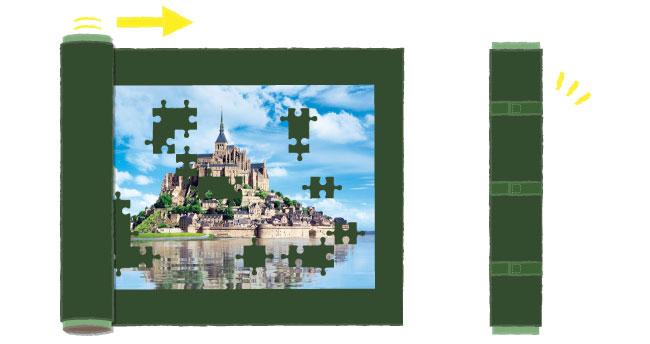 ジグソーパズルの絵柄の難易度について
